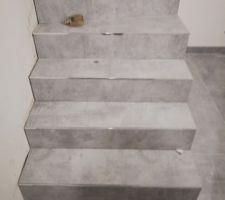 Pose carrelage escalier