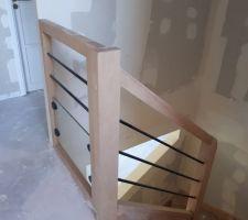 Escalier debret en hetre