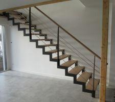 Forme du futur escalier