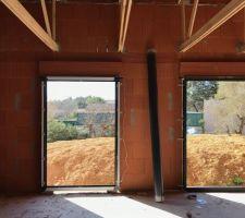 Porte fenêtre chambre parentale