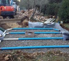 Mise en place des drains