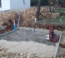 Préparation des écoulements du poolhouse