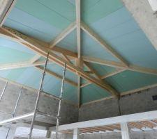 Charpente et plafond posés