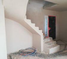Escalier maçonné