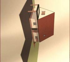 Vu 3D de la maison.