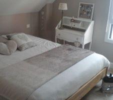 Photos et idées chambre d\'adultes sol gris clair (570 photos)