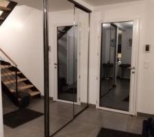 Portes de placard installées