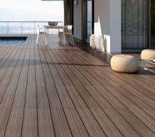 Carrelage terrasse façon pont de bateau