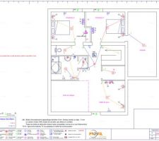 Plan électrique de l'étage