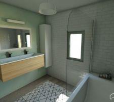 Salle de bain (Réalisé avec Homebyme)