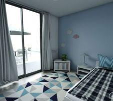 Chambre enfant 1 (Réalisé avec Homebyme)