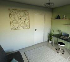 Bureau (chambre d'amis) (Réalisé avec Homebyme)