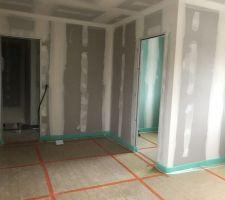 Installation du plancher chauffant étage