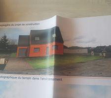 Plan définitif maison Pas très jolie couleur. Heureusement que ça ne ressemblera pas à ça!!!