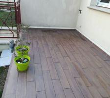 Terrasse carrelée