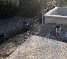 Traçage structure terrasse