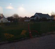 Clôture avec le voisin en cours