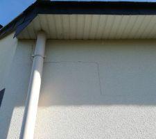 Fissure mur extérieur