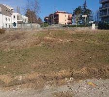 Le terrain prêt pour la construction