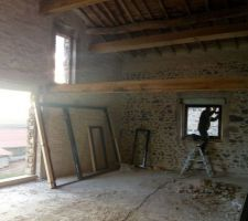 Fenêtres salle à manger + mezzanine, porte d'entrée + châssis fixe