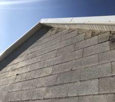 Ce qu'il est intéressant de voir sur cette photo est la qualité des finitions ainsi que la hauteur des planches ne couvrent même pas la hauteur du débord de toit...