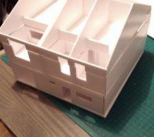 Maquette : finie (sans le toit)