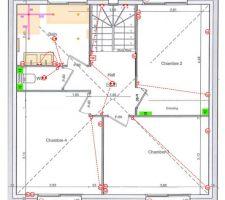 Plan électrique du 1er étage