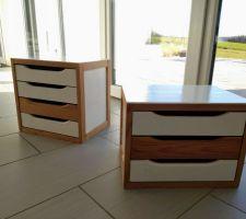Relookage petits rangements (ancestraux) en bois brut