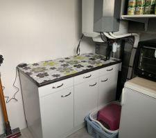 Cellier : fini, aménagement des meubles