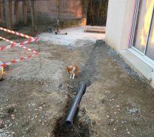 Création d'une nouvelle évacuation d'eau avant coulage de la seconde dalle terrasse