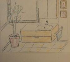 2ème version de la salle d'eau rdc
