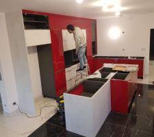 Installation de la cuisine, fin du premier jour
