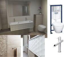 Visuel et achats pour la future salle de bain <3