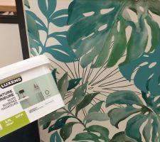 Projet en court : aménagement d'une salle de jeu/ salon tv/ chambre d'appoint. Inspirations#envie#motivation. Papier peint= jungle aquarelle. Peintures= blanche et vert-cactus.