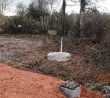 Écoulements eau pluviale parking et puisard 3m3