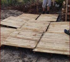 Activité du we dernier: créer des palettes pleines pour terrasse provisoire