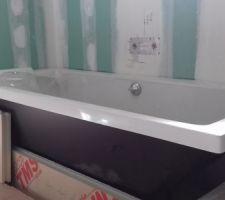 Pose de la baignoire