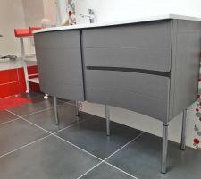 Pose du meuble vasque de chez Leroy Merlin (modèle Fairway)