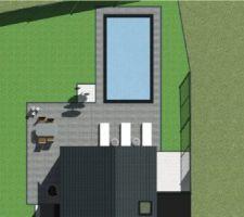 Projet piscine et terrasse