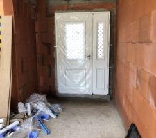 Porte d'entrée vue de l'intérieur, modèle Athéna de Bel'M