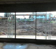 Baie vitrée salon.