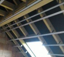 Rails plafond et toit.