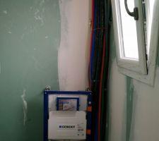Passage de cable salle d'eau