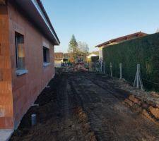 Suite des travaux du terrassier