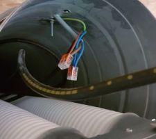 Tube galva pour y passer l?électricité et les tubes de vmc