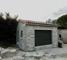 Couverture garage terminée