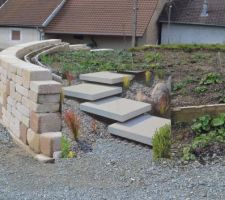 Simulation escalier accès terrasse