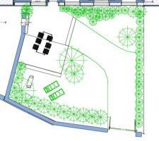 Plan d'aménagement du jardin (sud)
