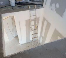 Vue de la trémie de l'escalier