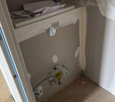 Coffrage WC suspendu (vasque intégrée)
